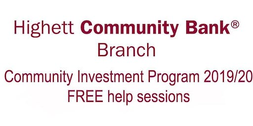 Higher Community Bank Branch - Funding Application HELP Session One