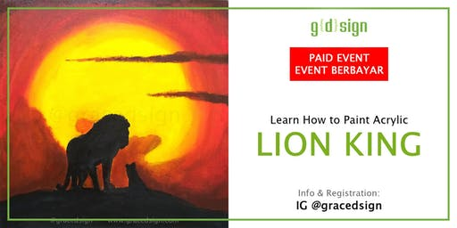 Learn How To Paint Glow In The Dark Acrylic (Lion King Theme)