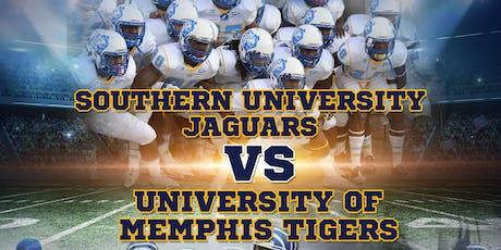 Southern University Jaguars vs University of Memphis Tigers Football tickets