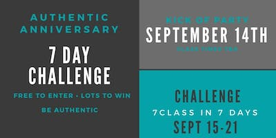 Authentic Anniversary 7 Day Challenge