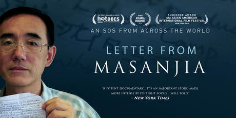 """Screening of documentary """"Letter from Masanjia"""" tickets"""