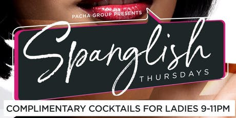 Spanglish Thursdays Blue Martini Ft Lauderdale Ladies Drink Free 8pm-11pm tickets