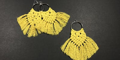 Make your own Macrame earrings and pendant set!