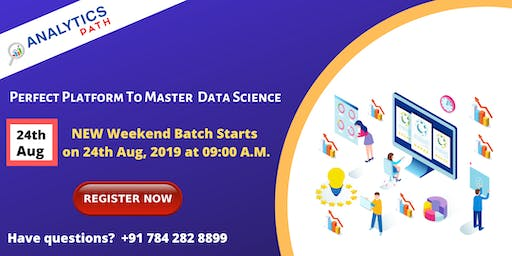 Data Science New Weekend Batch By Analytics Path On 24th Aug, 09 AM
