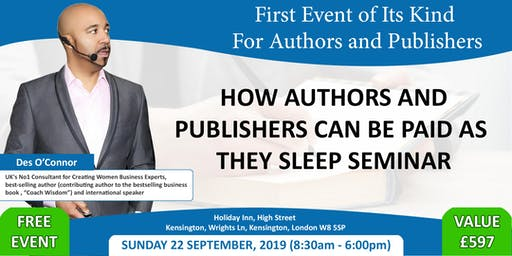 Free Event How Authors And Publishers Can Be Paid As They Sleep Seminar