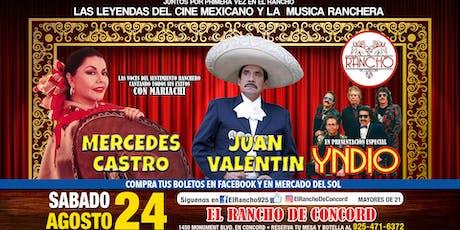 Mercedes Castro-Juan Valentin-Sabado 24 de Agosto-El Rancho de Concord tickets