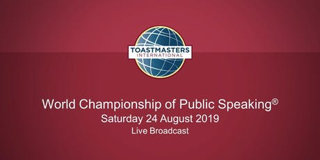 Live Broadcast of the World Championship of Public Speaking(r) tickets
