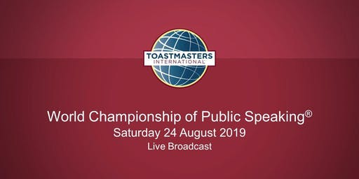 Live Broadcast of the World Championship of Public Speaking(r)