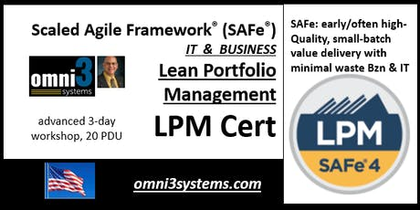 LPM-Cert-SAFe4.6--SAFe®-Lean-Portfolio-Management~BLM-Normal-24PDUs tickets