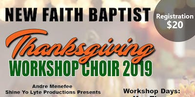 THANKSGIVING WORKSHOP CHOIR 2019