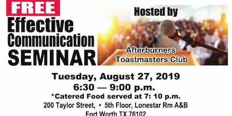 Free Effective Communication Seminar tickets