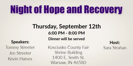 Night of Hope and Recovery tickets