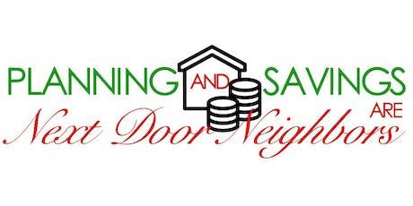 Planning and Savings Are Next Door Neighbors (PRF workshop) tickets