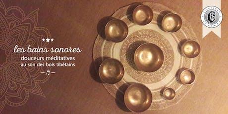 Les bains sonores - session du 14/09 billets