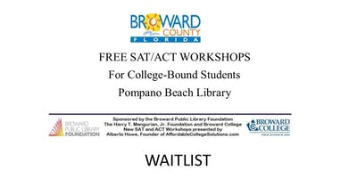 WAITLIST: Free SAT/ACT Workshops - Juniors and Seniors only