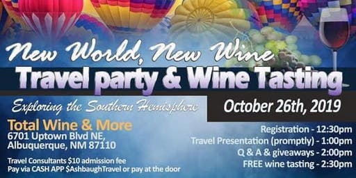 New World, New Wines, Travel Party & FREE wine tasting