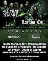All That Remains, Lacuna Coil