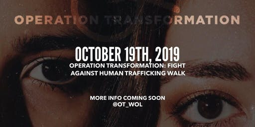 FIGHT AGAINST HUMAN TRAFFICKING WALK