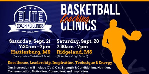 ELITE Basketball Coaching Clinic - 9/21 HATTIESBURG
