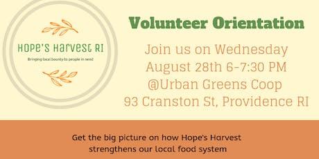 Hope's Harvest Volunteer Orientation tickets
