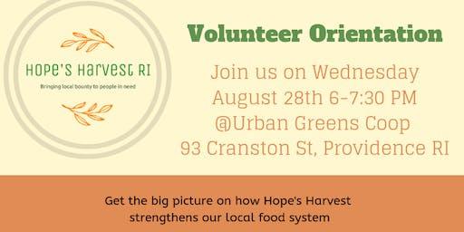 Hope's Harvest Volunteer Orientation