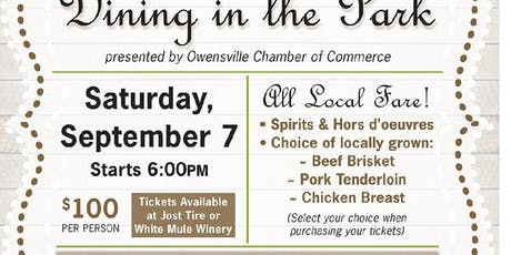 Dining in the Park- Farm to Table Dinner Fundraiser tickets