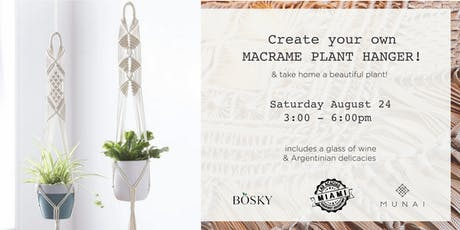 Create your own MACRAME PLANT HANGER!  tickets