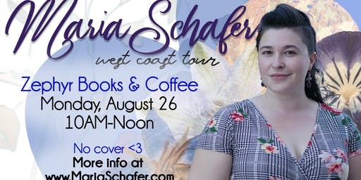 Maria Schafer on Tour at Zephyr Books & Coffee