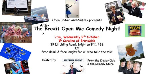 Mid-Sussex Open Britain's Anti-Brexit Open Mic Comedy Night