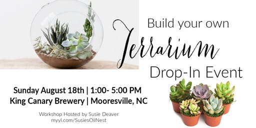 DIY Succulent Terrarium Drop In  - King Canary