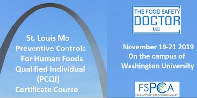 St.Louis: FSPCA Preventive Controls Human Foods (PCQI)Reduced Fees