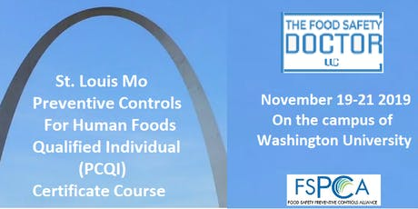 St.Louis: FSPCA Preventive Controls Human Foods (PCQI)Reduced Fees tickets