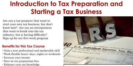 An Intro to Tax Preparation & Starting a Tax Business tickets