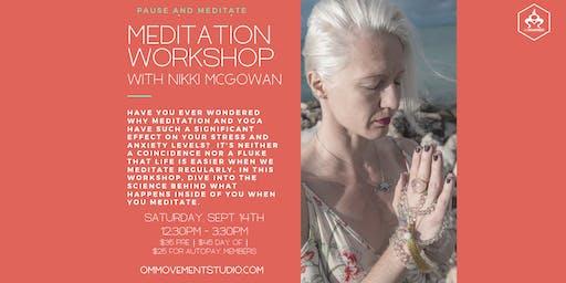 Meditation Workshop with Nikki McGowan