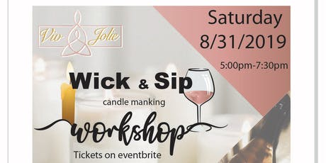 Viv Jolie Wick & Sip Candle Making Workshop tickets