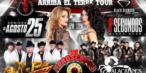 Arriba El Terre Tour : K-PAZ,  ALACRANES MUSICAL & LOS HOROSCOS DE DURANGO