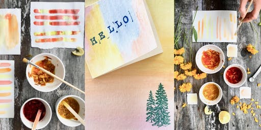 Make Your Own Natural Watercolors - Floral Greeting Card Workshop