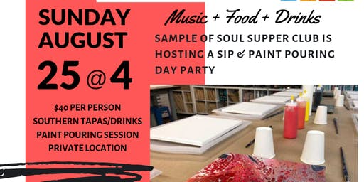 Sip & Paint Pouring Day Party