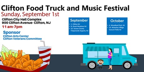 September 1- Clifton Food Truck and Music Festival tickets