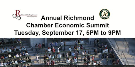 Annual Richmond Chamber Economic Summit  Tuesday, September 17, 5PM to 9PM tickets