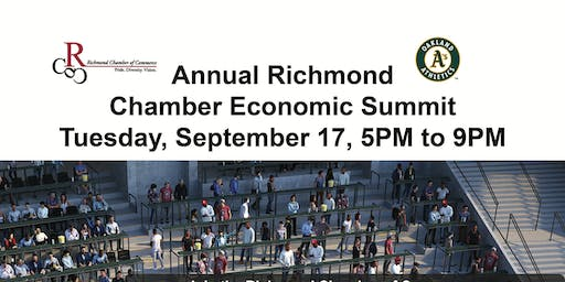 Annual Richmond Chamber Economic Summit  Tuesday, September 17, 5PM to 9PM