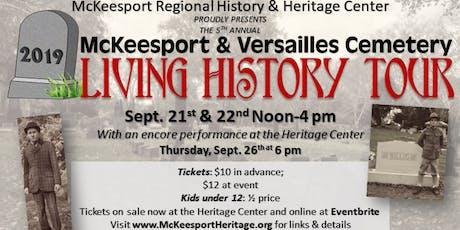 "McKeesport & Versailles Cemetery ""Living History Tour"" tickets"