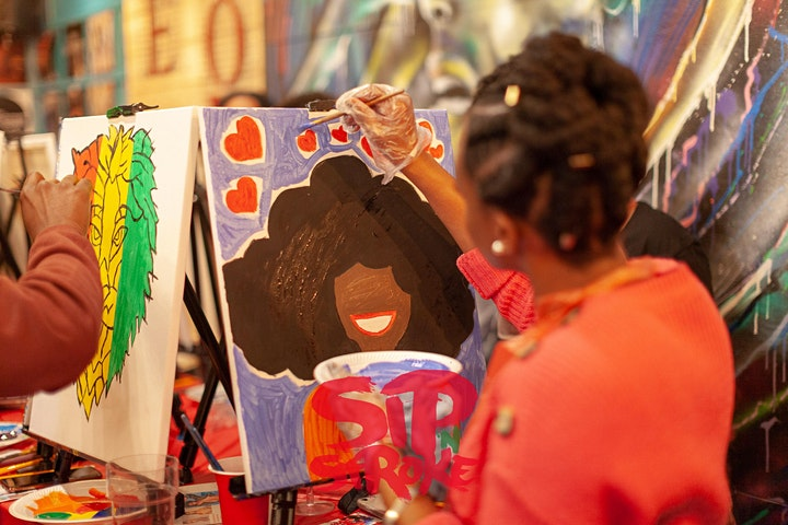 BRUSH 'N BRUNCH | (3pm - 7pm) | Sip and Paint party | Food Included image
