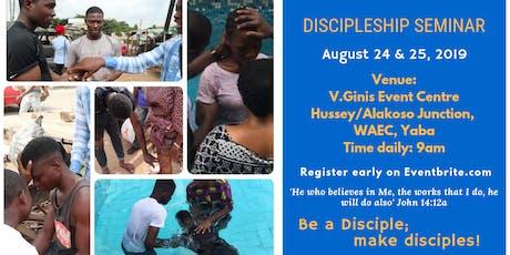 DISCIPLESHIP SEMINAR tickets