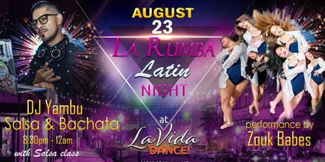La Rumba Latin Salsa Bachata Night at LaVida Dance tickets