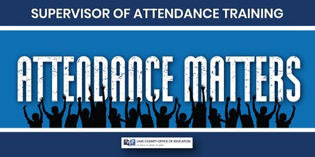 Supervisor of Attendance Training tickets