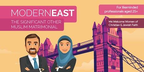 Modern East Muslim Matrimonial tickets