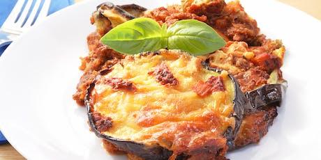 Authentic Italian Eggplant Parmesan tickets