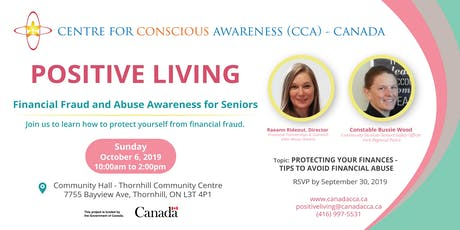 Positive Living - Financial Fraud and Abuse Awareness for Seniors tickets