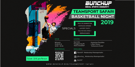 Basketball-Night - Teamsport Safari Nights #3  von BunchUP Tickets